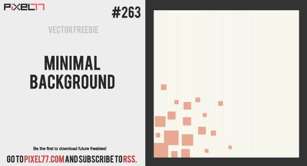 pixel77 free vector minimal background 0201 600 Free Vector of the Day #263: Minimal Background