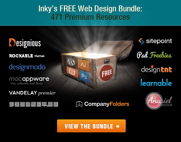 Inky Deals Free Web Design Bundle 3 Free Folder PSD Mock ups from CompanyFolders.com!