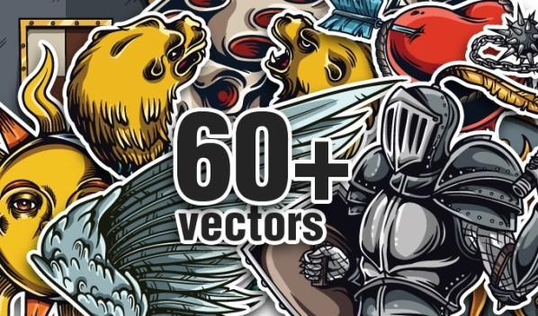 designious vector bundle 17 10 New Fabulous Vintage Vector Packs & Freebie from Designious.com