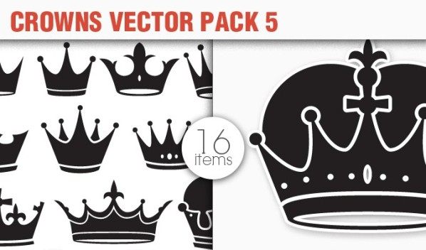 designious vector crowns 5 small 10 New Fabulous Vintage Vector Packs & Freebie from Designious.com