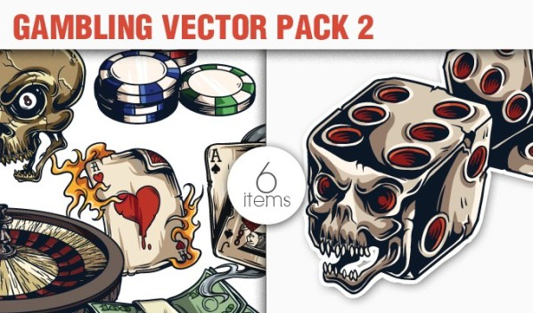 designious vector gambling 2 small 10 New Fabulous Vintage Vector Packs & Freebie from Designious.com
