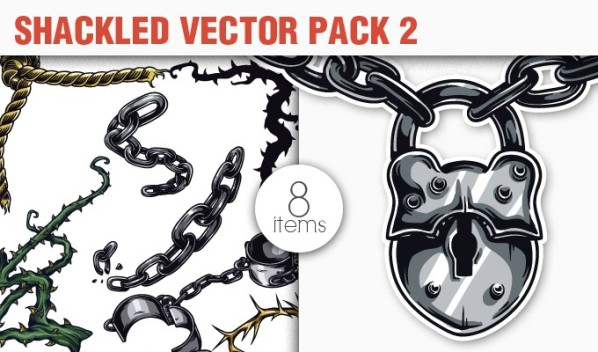 designious vector shackled 2 small 10 New Fabulous Vintage Vector Packs & Freebie from Designious.com