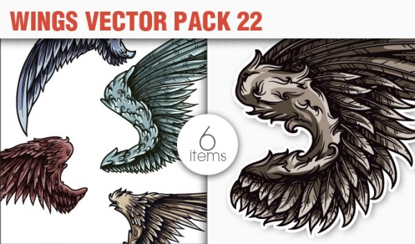 designious vector wings 22 small 10 New Fabulous Vintage Vector Packs & Freebie from Designious.com