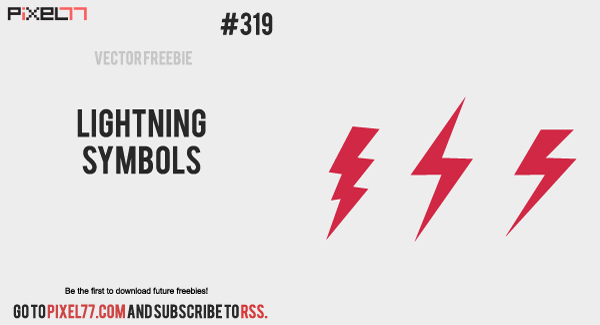 pixel77 free vector lightning bolt 0422 600jpg Free Vector of the Day #319: Lightning symbols