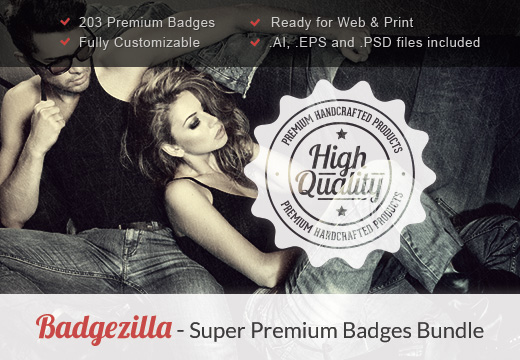 superpremium badges set preview Illustrator and Photoshop Tutorials Roundup   March 2013