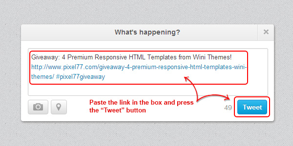tweet Giveaway: 4 Premium Responsive HTML Templates from Wini Themes!
