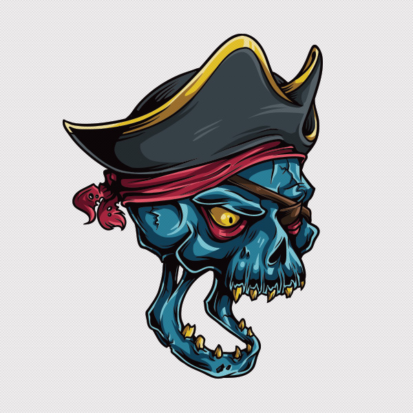 Adobe Illustrator tutorial draw vector pirate skull 1 Adobe Illustrator Tutorial: How to Draw a Vector Pirate Skull