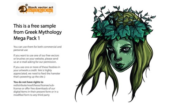 designious freebie greek mythology 1 8 New Marvelous Greek Mythological Vector Packs & Freebie from Designious.com