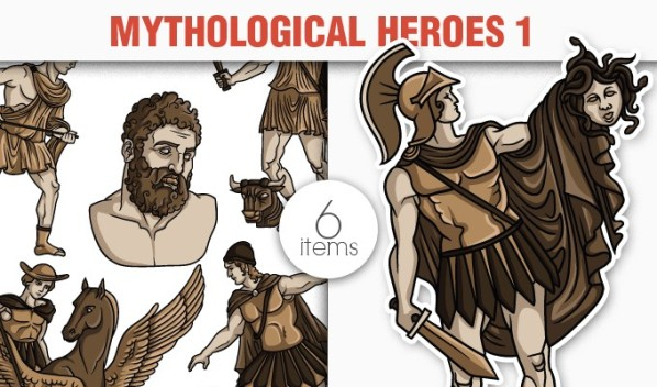 designious vector heroes 1 small 8 New Marvelous Greek Mythological Vector Packs & Freebie from Designious.com