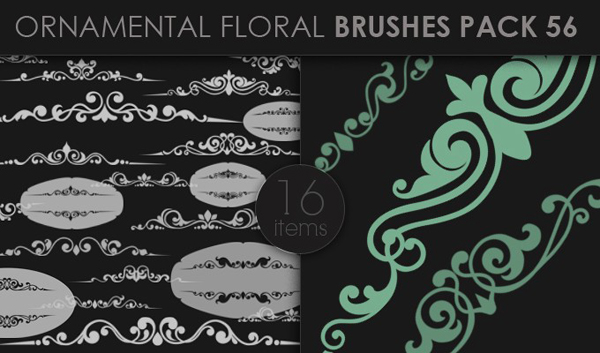 designious brushes ornamental 56 small 10 New Ornamental Vector Packs & 10 Ornamental Brushes Packs from Designious.com