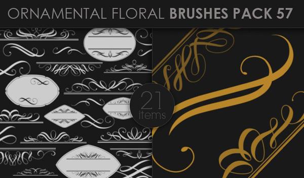 designious brushes ornamental 57 small 10 New Ornamental Vector Packs & 10 Ornamental Brushes Packs from Designious.com
