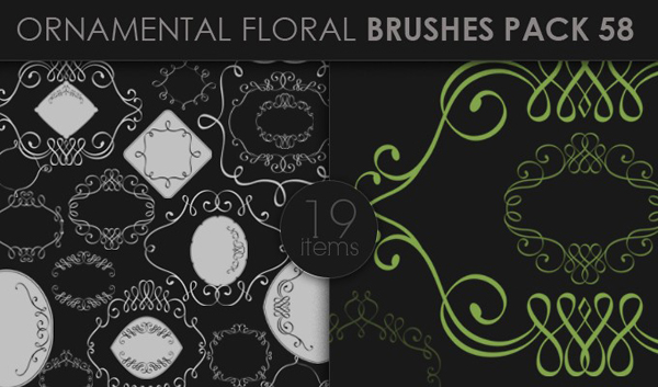 designious brushes ornamental 58 small 10 New Ornamental Vector Packs & 10 Ornamental Brushes Packs from Designious.com