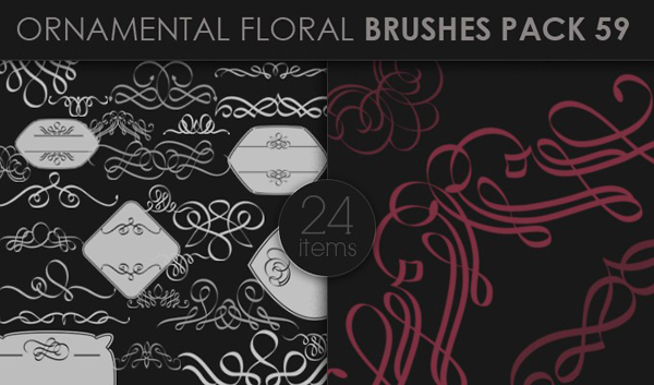 designious brushes ornamental 59 small 10 New Ornamental Vector Packs & 10 Ornamental Brushes Packs from Designious.com
