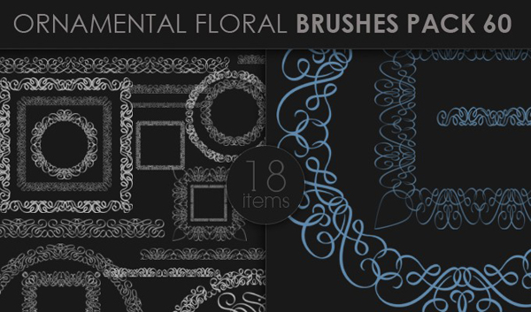 designious brushes ornamental 60 small 10 New Ornamental Vector Packs & 10 Ornamental Brushes Packs from Designious.com