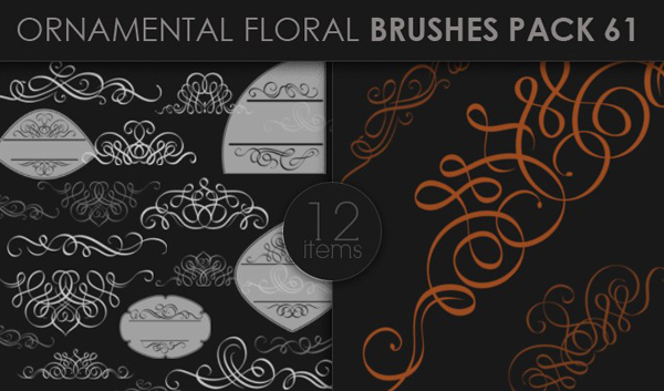 designious brushes ornamental 61 small 10 New Ornamental Vector Packs & 10 Ornamental Brushes Packs from Designious.com