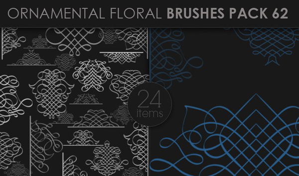 designious brushes ornamental 62 small 10 New Ornamental Vector Packs & 10 Ornamental Brushes Packs from Designious.com
