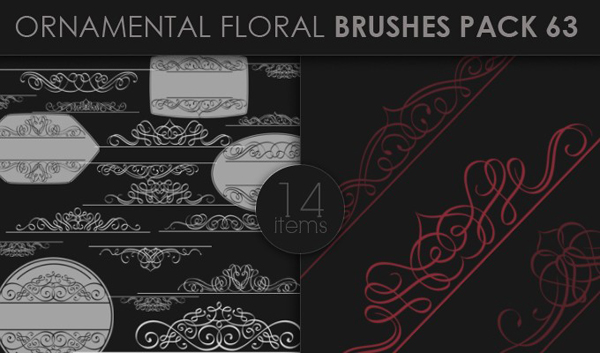 designious brushes ornamental 63 small 10 New Ornamental Vector Packs & 10 Ornamental Brushes Packs from Designious.com