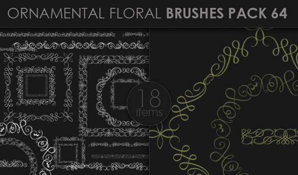 designious brushes ornamental 64 small 10 New Ornamental Vector Packs & 10 Ornamental Brushes Packs from Designious.com
