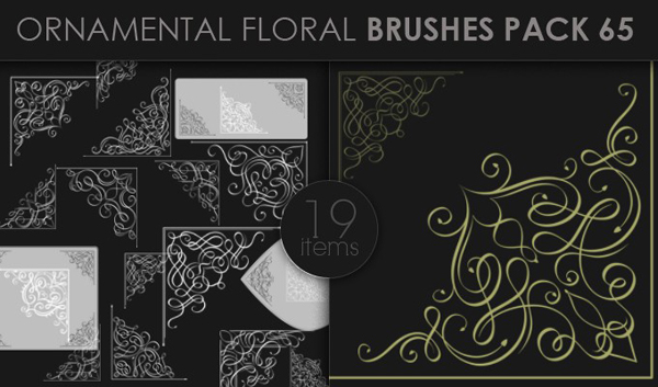 designious brushes ornamental 65 small 10 New Ornamental Vector Packs & 10 Ornamental Brushes Packs from Designious.com