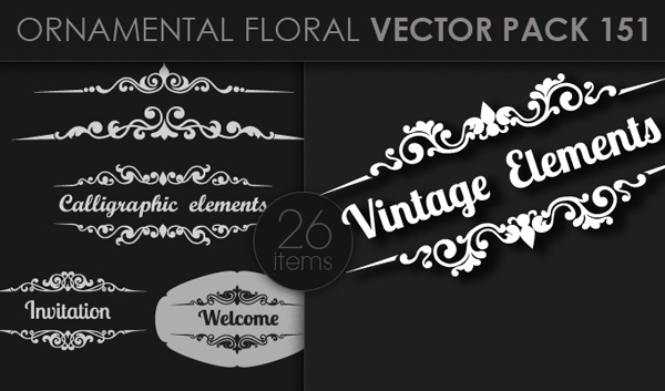designious vector ornamental 151 small 10 New Ornamental Vector Packs & 10 Ornamental Brushes Packs from Designious.com