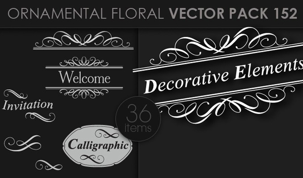 designious vector ornamental 152 small 10 New Ornamental Vector Packs & 10 Ornamental Brushes Packs from Designious.com