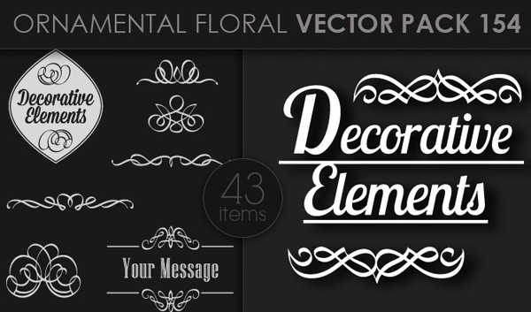 designious vector ornamental 154 small 10 New Ornamental Vector Packs & 10 Ornamental Brushes Packs from Designious.com
