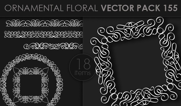 designious vector ornamental 155 small 10 New Ornamental Vector Packs & 10 Ornamental Brushes Packs from Designious.com