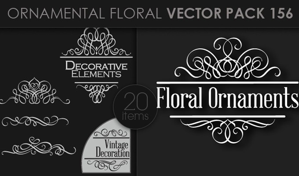 designious vector ornamental 156 small 10 New Ornamental Vector Packs & 10 Ornamental Brushes Packs from Designious.com