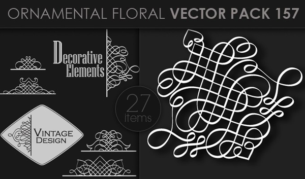 designious vector ornamental 157 small 10 New Ornamental Vector Packs & 10 Ornamental Brushes Packs from Designious.com