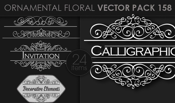 designious vector ornamental 158 small 10 New Ornamental Vector Packs & 10 Ornamental Brushes Packs from Designious.com