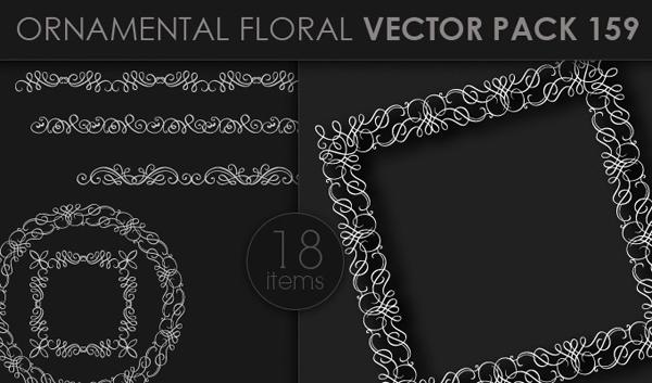 designious vector ornamental 159 small 10 New Ornamental Vector Packs & 10 Ornamental Brushes Packs from Designious.com