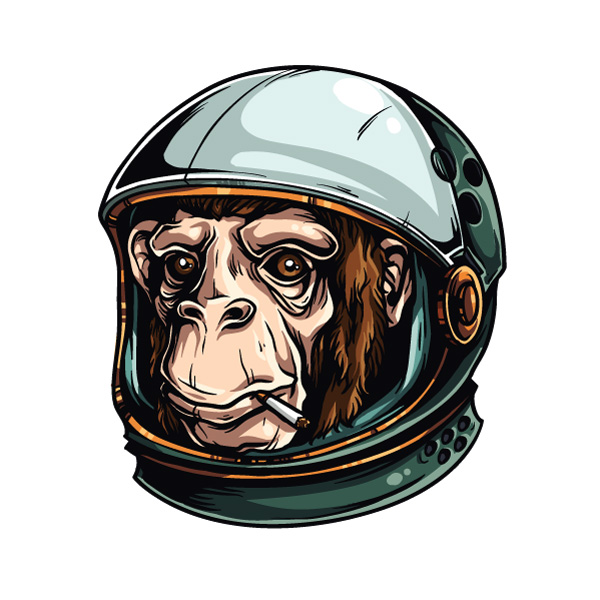 Adobe Illustrator turorial how draw astrochimp 1 Adobe Illustrator Tutorial: How to Draw an Astrochimp