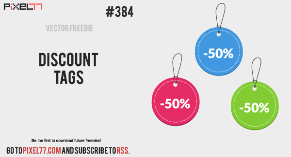 pixel77 free vector discount tags 0723 600 Free Vector of the Day #384: Discount Tags