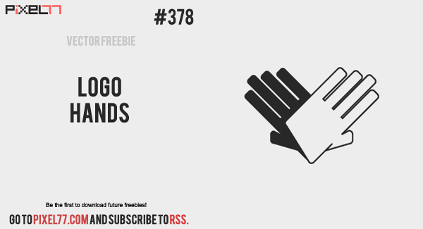 pixel77 free vector hands logo 0715 600 Free Vector of the Day #378: Logo Hands