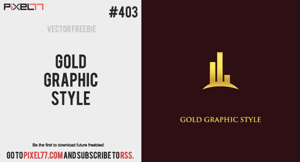 pixel77 free vector gold graphic style 0819 600 Free Vector of the Day #403: Gold Graphic Style