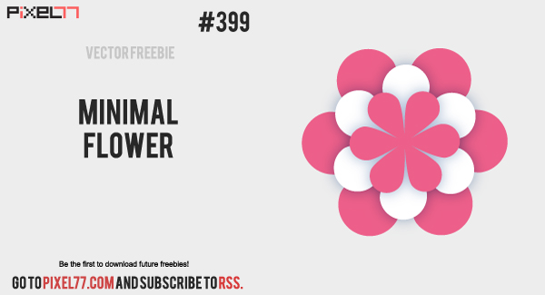 pixel77 free vector minimal flower 0813 600 Free Vector of the Day #399: Minimal Flower