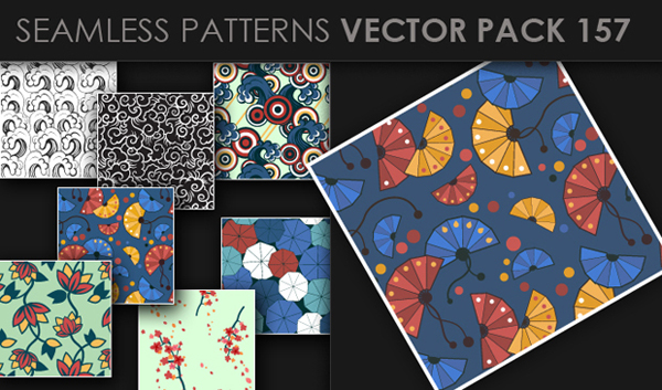 designious vector seamless 157 small New at Designious: 30 New Splendid Seamless Patterns Vector Packs & 1 Mega Pack