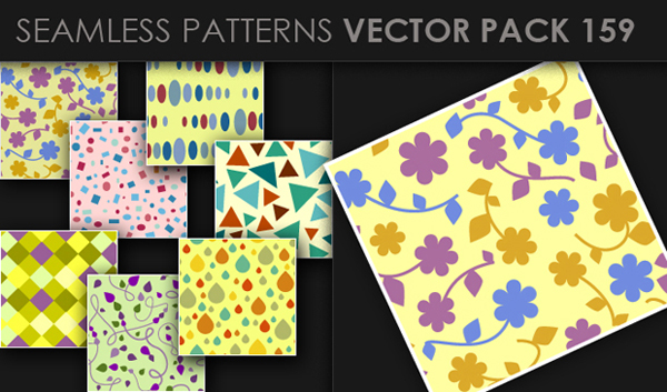 designious vector seamless 159 small New at Designious: 30 New Splendid Seamless Patterns Vector Packs & 1 Mega Pack