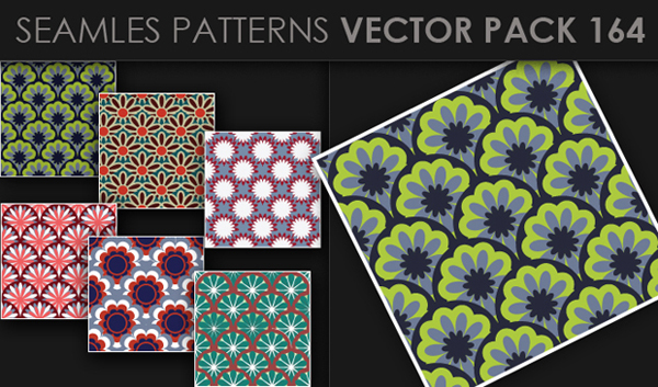 designious vector seamless 164 small New at Designious: 30 New Splendid Seamless Patterns Vector Packs & 1 Mega Pack