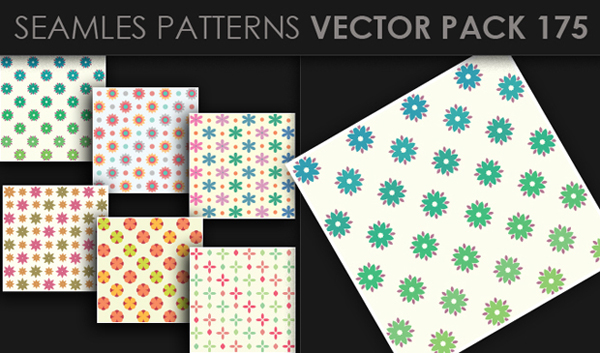 designious vector seamless 175 small New at Designious: 30 New Splendid Seamless Patterns Vector Packs & 1 Mega Pack