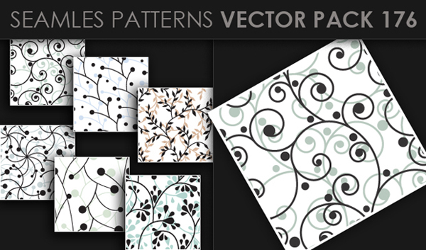 designious vector seamless 176 small New at Designious: 30 New Splendid Seamless Patterns Vector Packs & 1 Mega Pack