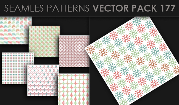 designious vector seamless 177 small New at Designious: 30 New Splendid Seamless Patterns Vector Packs & 1 Mega Pack
