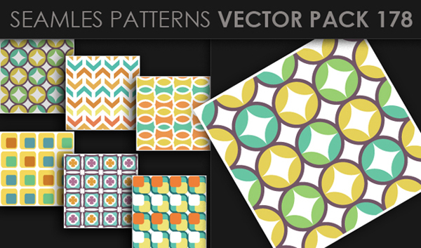 designious vector seamless 178 small New at Designious: 30 New Splendid Seamless Patterns Vector Packs & 1 Mega Pack