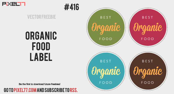 pixel77 free vector organic food label 0905 600 Free Vector of the Day #416: Organic Food Label