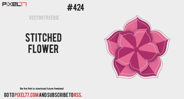 pixel77 free vector stitched flower 0917 600 Free Vector of the Day #424: Stitched Flower