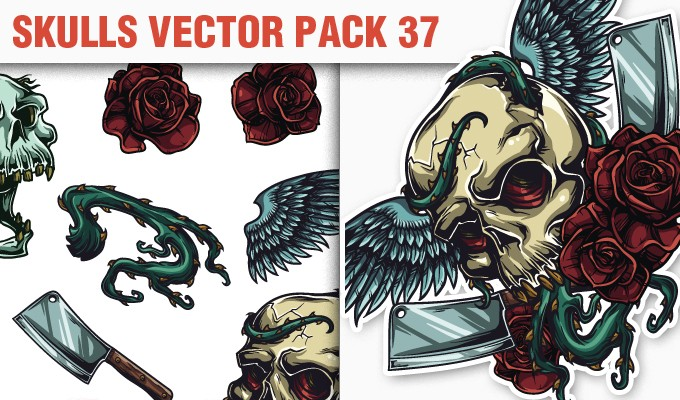 designious vector skull 37 small 10 New Vintage Vector Packs & 1 Mega Pack from Designious.com