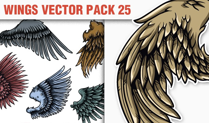 designious vector wings 25 small 10 New Vintage Vector Packs & 1 Mega Pack from Designious.com