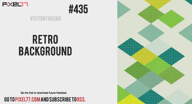 pixel77 freebie retro background 1002 630 Free Vector of the Day #435: Retro Background