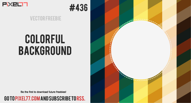 pixel77 freebies colorful background 1003 630 Free Vector of the Day #436: Colorful Background