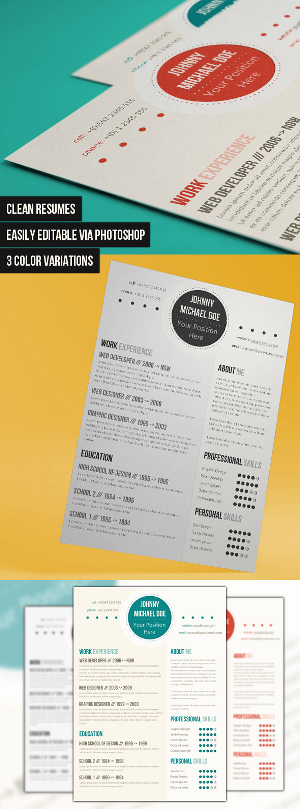 25 creative cv templates that will make you stand out 25 awesome cv templates and examples 4